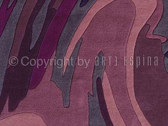 Arte Espina - tapis de chambre action painting violet 120x180 en - Moderner Teppich