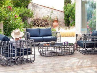 PROLOISIRS - salon 4 places olbia en aluminium et résine tressé - Gartengarnitur