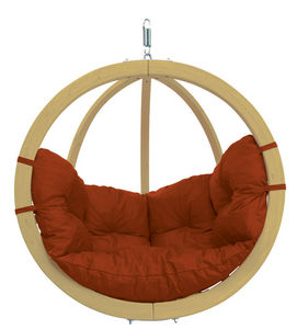 Amazonas - chaise globo à suspendre avec coussin terracota - Hollywoodschaukel