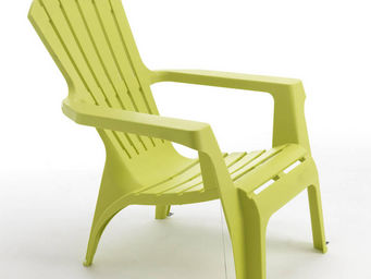 WILSA GARDEN - fauteuil adirondack vert anis en résine polypropyl - Gartensessel
