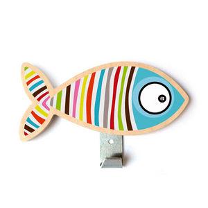 SERIE GOLO - patère poisson rayé - Wandhaken
