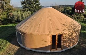 Yurta Red Sun - yurta moderna 10 metri diametro - Jurte