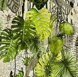CHRISTIAN LACROIX FOR DESIGNERS GUILD - soft jardin exo'chic - rainette - Bezugsstoff