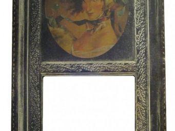 PROVENCE ET FILS - trumeau merveilleuse - portrait femme - toile de l - Trumeauspiegel