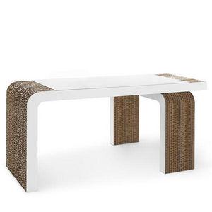 Corvasce Design - scrivania in cartone vimini - Schreibtisch