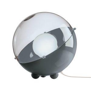 Koziol - orion - lampe à poser gris/gris transparent ø32,9c - Tischlampen