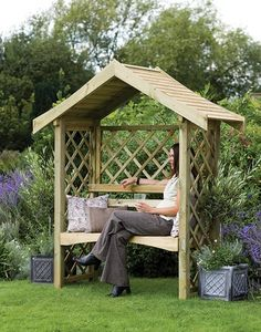 Forest Garden - sienna arbour - Bank Mit Dach