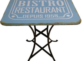 Antic Line Creations - table bistro vintage - Gartentisch