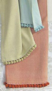 ITI  - Indian Textile Innovation - herringbone weave - Bettüberwurf