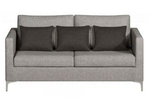 Home Spirit - canapé fixe design aston 3 places tissu tweed gris - Sofa 3 Sitzer