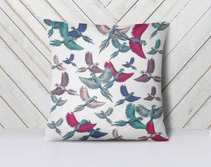la Magie dans l'Image - coussin oiseaux motif - Kissen Quadratisch