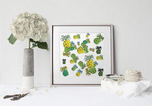 la Magie dans l'Image - print art ananas motif - Dekobilder