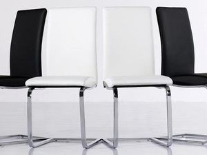 WHITE LABEL - lot de 2 chaises verona beiges - Rezeptionsstuhl