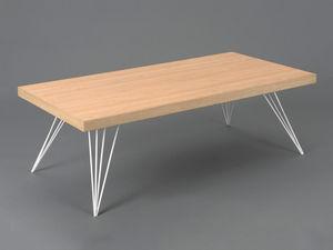 Amadeus - table basse playroom scandinave - bois clair - Rechteckiger Couchtisch