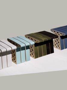 LABEL/BREED - ceramic brick bench - Gartensitzmöbel Kisse