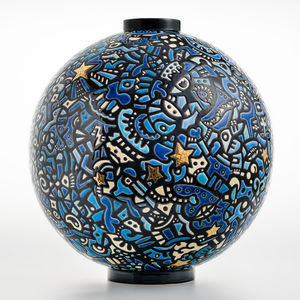 EMAUX DE LONGWY 1798/FRAGRANCE - city of stars - Große Vase