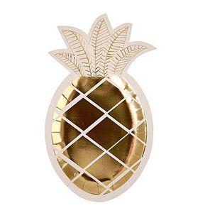 MERI MERI - pineapple - Pappteller Mit Weihnachtsmotiv