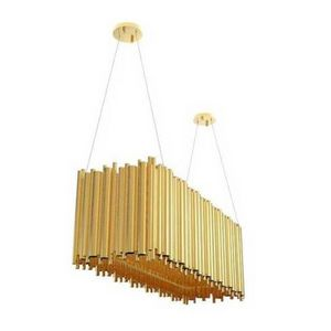 ALAN MIZRAHI LIGHTING - ka1313 brubeck rectangular - Kronleuchter