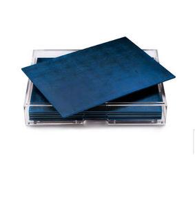 POSH - silver leaf chic matte blue - Tischset