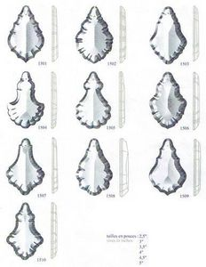 Falbala - plaquette - Kronleuchter Zapfen