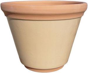 AMBIANCES & MATIERES DIFFUSION - pot creme 30 col naturel - Garten Blumentopf