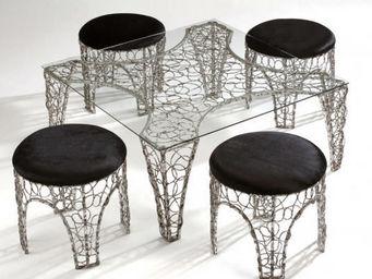comin'design - table basse arabesque - Runder Couchtisch