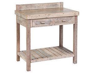 TABLE & CO - billot bois blanchi - Küchenblock