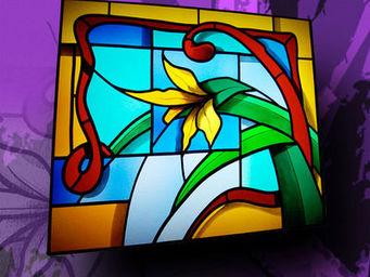 Atelier 1..2..3 vitrail - lys - Buntglasfenster