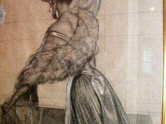 Camille Burgi -  - Kohlezeichnung