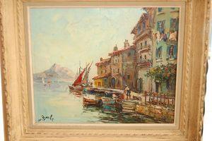 Antiquites Decoration Maurin -  - Ölgemelde Auf Leinwand Und Holztafel