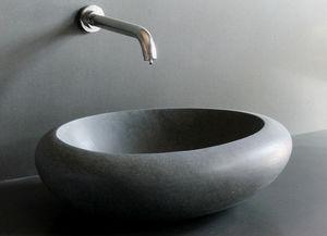 LIVING'ROC - vasque en pierre cocoon - Waschbecken Freistehend