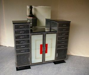 L'atelier tout metal - meuble dentaire vers 1940 - Berufsmöbel