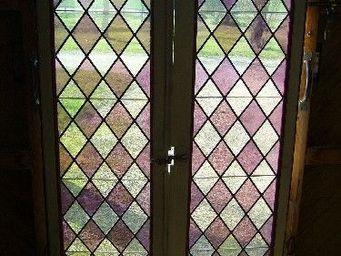 antiquites materiaux anciens deco de jardins - vitraux - Buntglasfenster