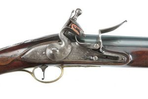 Peter Finer - fine and rare english flintlock carbine by j. hick - Karabiner Und Gewehr