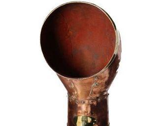 Antiqmarine - manche à air en cuivre et laiton - Lüftungsrohr