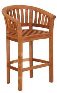 Tek Import - chaise de bar demi-lune - Garten Barhocker