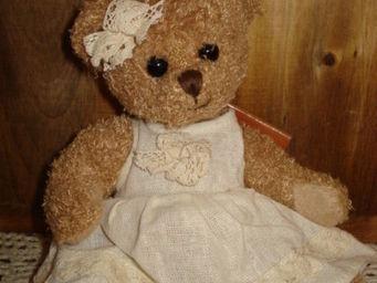 au petit coeur d'amour - caroline - Sammlerbär