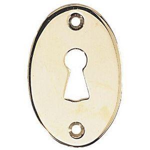 FERRURES ET PATINES - entree de clef ovale en laiton pour porte d'inter - Schlüsselloch