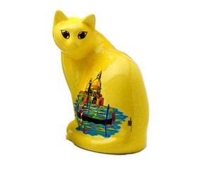 EMAUX DE LONGWY 1798/FRAGRANCE - chat assis gm (san marco) - Katze