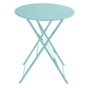 MAISONS DU MONDE - table turquoise confetti - Rundes Gartentisch