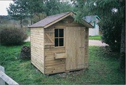 Cihb - abri de jardin collectivite - Holz Gartenhaus