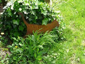 OKE DECORATION - chat en métal sur socle - Gartenschmuck