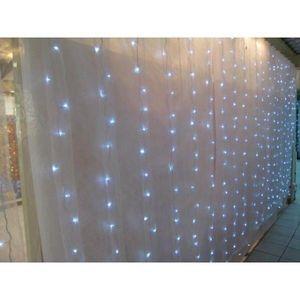 DECO PRIVE - rideaux lumineux a telecommande leds intermittants - Lichterkette