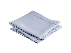 BLANC CERISE - lot de 4 serviettes de table - lin traité déperlan - Tisch Serviette