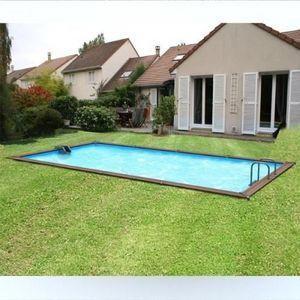 Christaline - gold piscine bois evolux 670x360x147cm - Pool Mit Holzumrandung