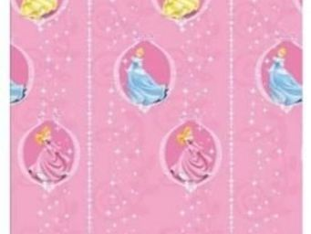 DISNEY - rideau rose princess medaillon - Kindervorhang