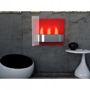 WHITE LABEL - chemine thanol light fire rouge - Kamin Ohne Rauchabzug