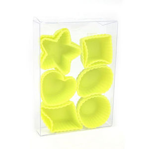 WHITE LABEL - lot de 12 mini moules en silicone - Tarteform