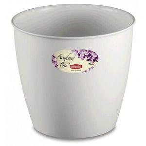 Stefanplast - lot de 3 cache-pots ou pots de fleurs ronds 14.3  - Übertopf