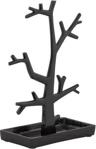 KOKOON DESIGN - porte-bijoux design tree en aluminium noir 22x11x3 - Schmuckständer
